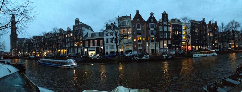 Canal walk night pano