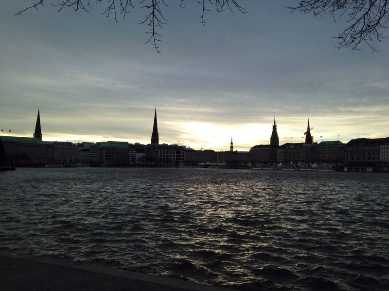 Hamburg church view